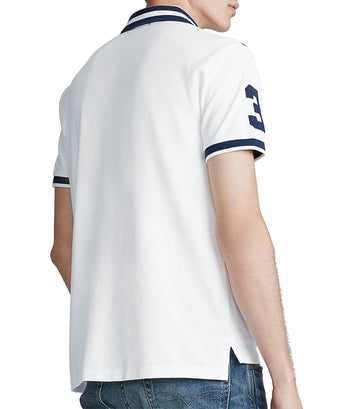 Big Pony Custom Slim Fit Mesh Polo Shirt White