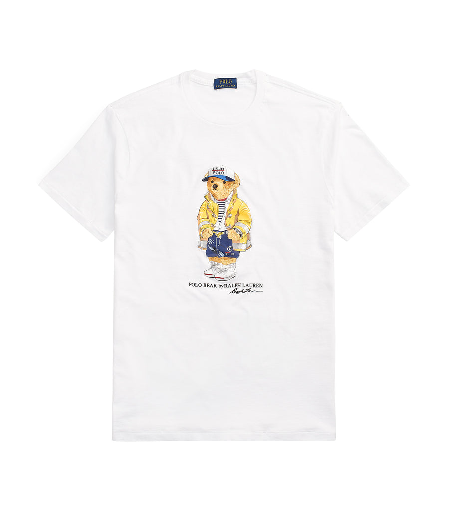 Custom Slim Fit Bear T-Shirt White