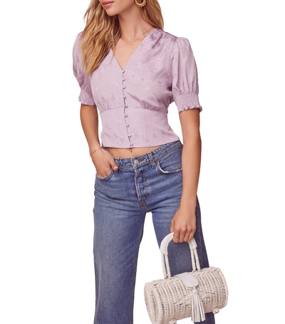 Tallulah Puff Sleeve Top Lilac