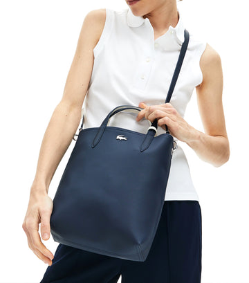 Women's Anna Reversible Vertical Tote Bag Dark Sapphire/Marshmallow