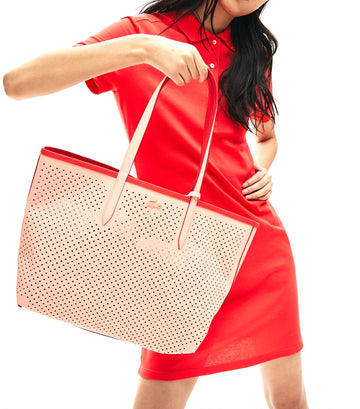 Women's Anna Fantaisie Perforated Reversible Tote Bag Bittersweet Pale Blush