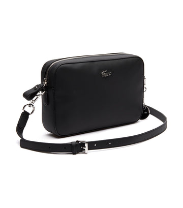 Women's Daily Classic Coated Canvas Shoulder Bag Black