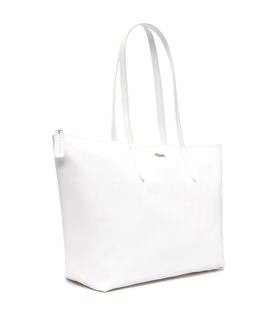 Women's L.12.12 Concept Large Zip Shopping Bag Bright White