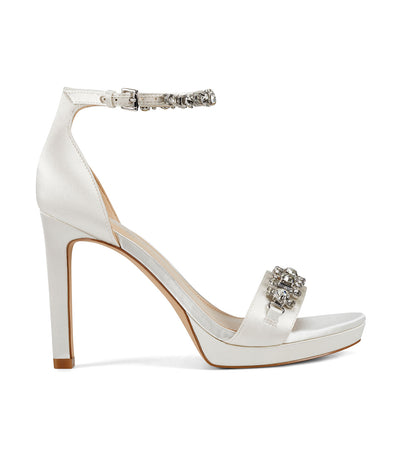 Engaged2 Heeled Ankle Strap Sandals White