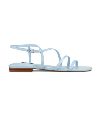 Mani3 Strappy Flat Sandals Light Blue