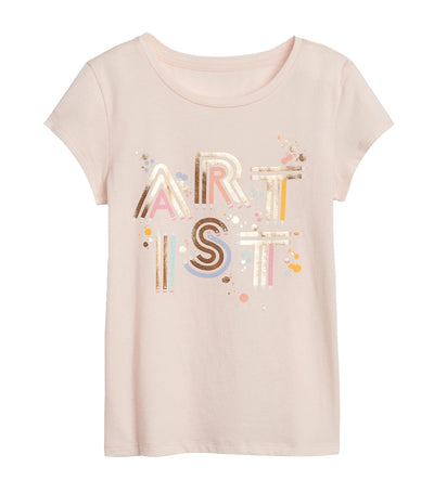 gap kids pink blush graphic short sleeve t-shirt