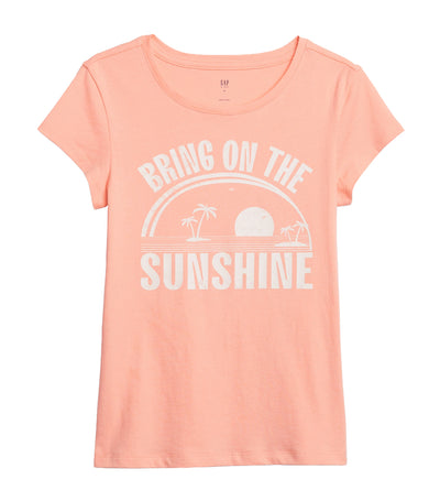 gap kids creamy coral graphic short sleeve t-shirt