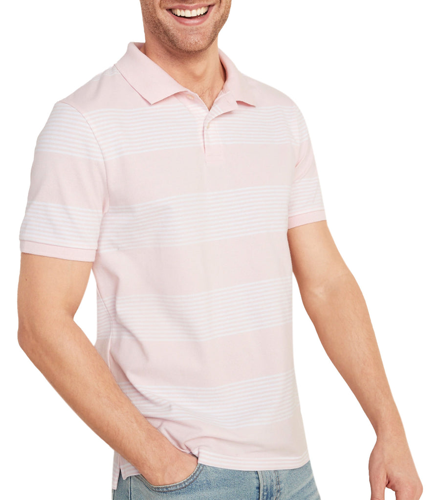 Striped Moisture-Wicking Pro Polo Blush On You