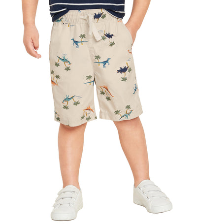 ld navy toddler functional-drawstring jogger shorts - dinosaurs