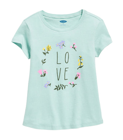 old navy toddler graphic short-sleeve tee - kiss the sky