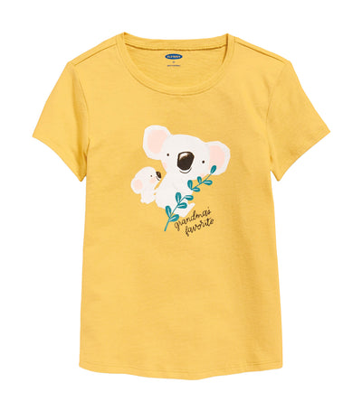 old navy toddler graphic short-sleeve tee - carol corn yellow