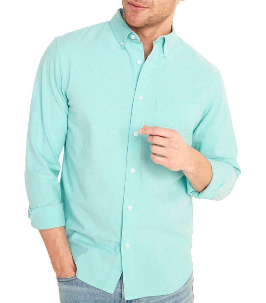Regular-Fit Built-In Flex Everyday Oxford Shirt Illusion