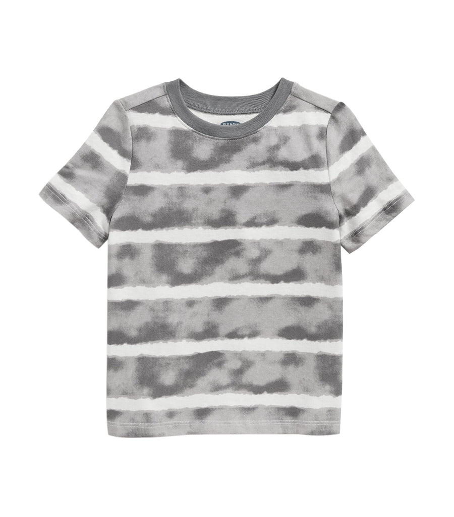 old navy toddler gray watercolor stripe printed crew-neck tee