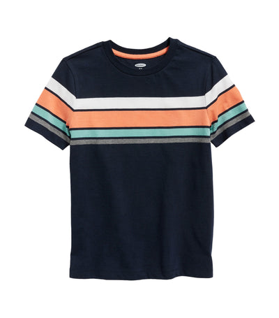 old navy kids softest chest-stripe tee - in the navy