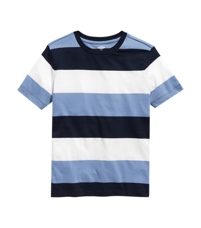 old navy kids bold-stripe softest tee - blue periwinkle
