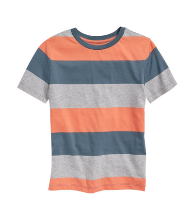 old navy kids bold-stripe softest tee - apricot scone