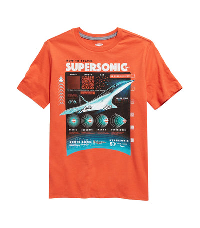 old navy kids graphic crew-neck tee - how to travel supersonic