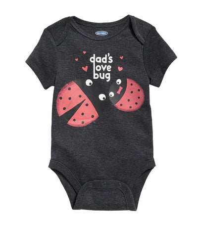 old navy toddler graphic bodysuit - dad's love bug