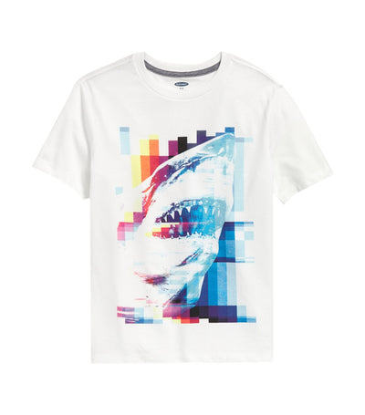 old navy kids graphic crew-neck tee - bright white 3