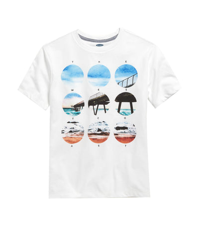 old navy kids graphic crew-neck tee - the west coast