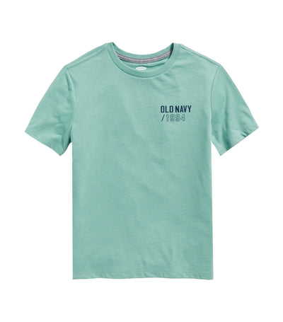 old navy kids logo-graphic crew-neck tee - english channel