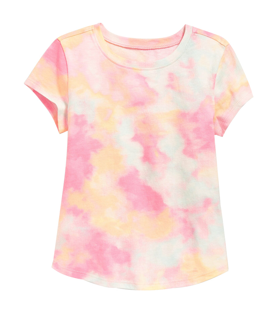 old navy toddler printed scoop-neck tee - warm tie dye