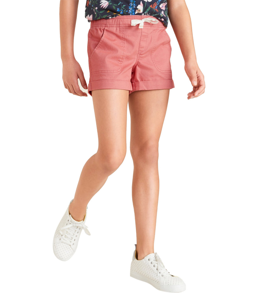 old navy kids functional-drawstring cuffed shorts - cocoa pink