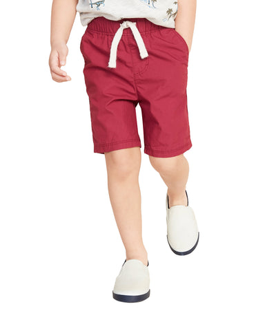 old navy toddler red oak functional-drawstring jogger shorts