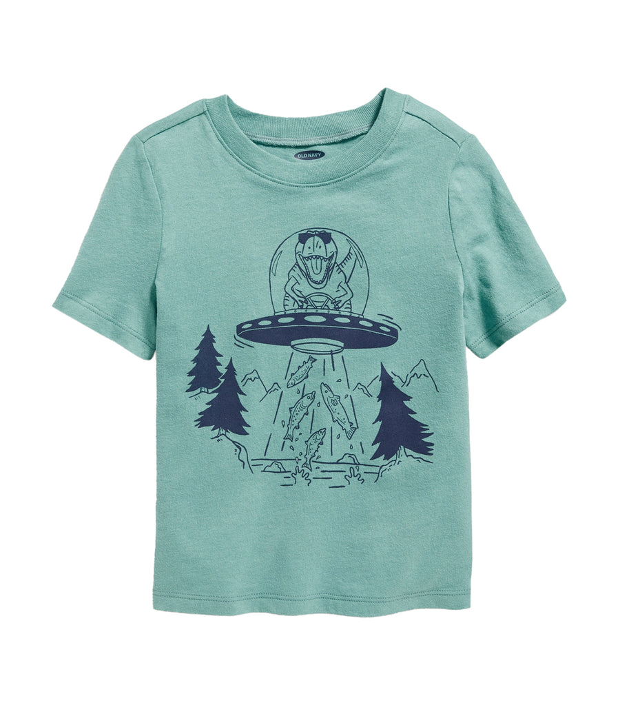 old navy toddler graphic crew-neck tee - ufo dinosaurs