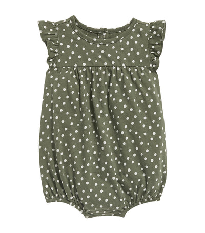old navy toddler printed jersey bubble one-piece - dots