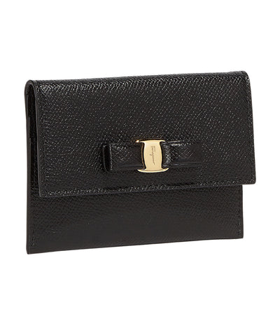 Vara Bow Credit Card Holder Black