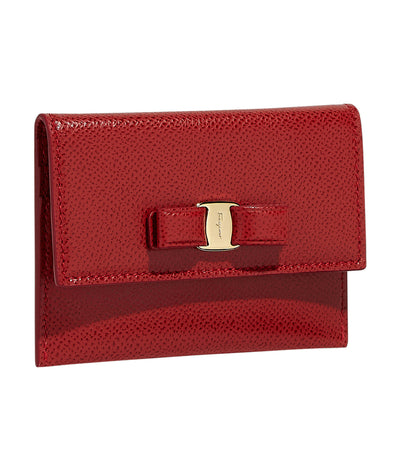Vara Bow Credit Card Holder Lipstick Red