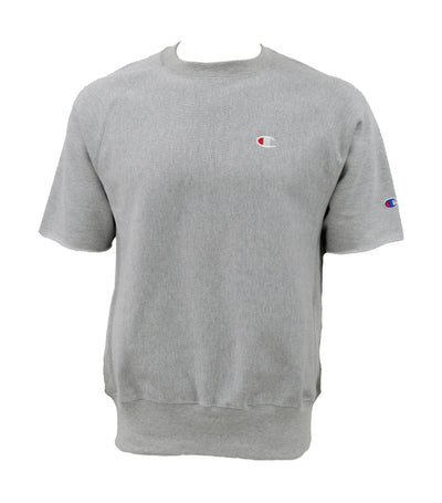 Reverse Weave Short Sleeve Crew Oxford Gray