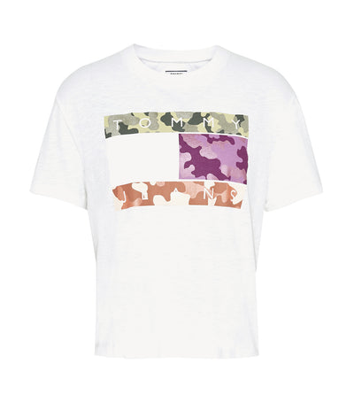 Camo Flag Tommy Tee White