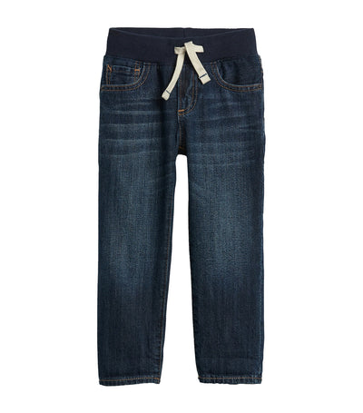 gap kids toddler rib waist dark slim denim jeans