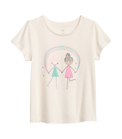 gap kids toddler short sleeve graphic t-shirt - friends