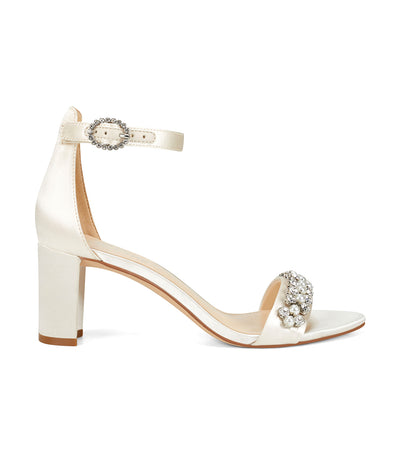 Passion2 Heeled Ankle Strap Sandals Ivory