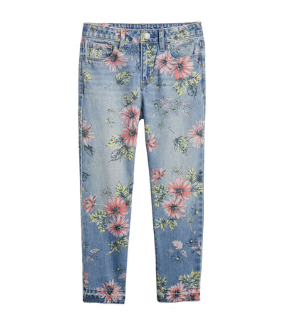gap kids floral girlfriend denim jeans