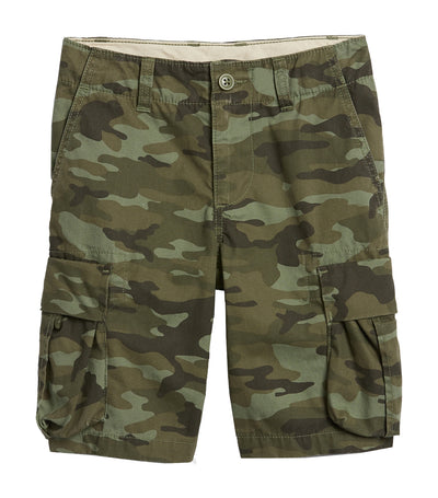 gap kids  green camo cargo shorts