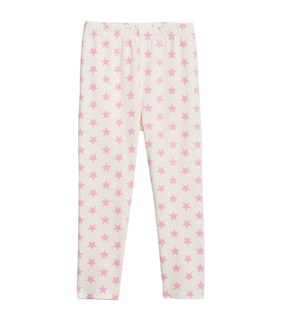 gap kids pink stars toddler leggings in stretch jersey