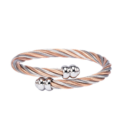 Celtic Bangle Two-Tone Rose Gold