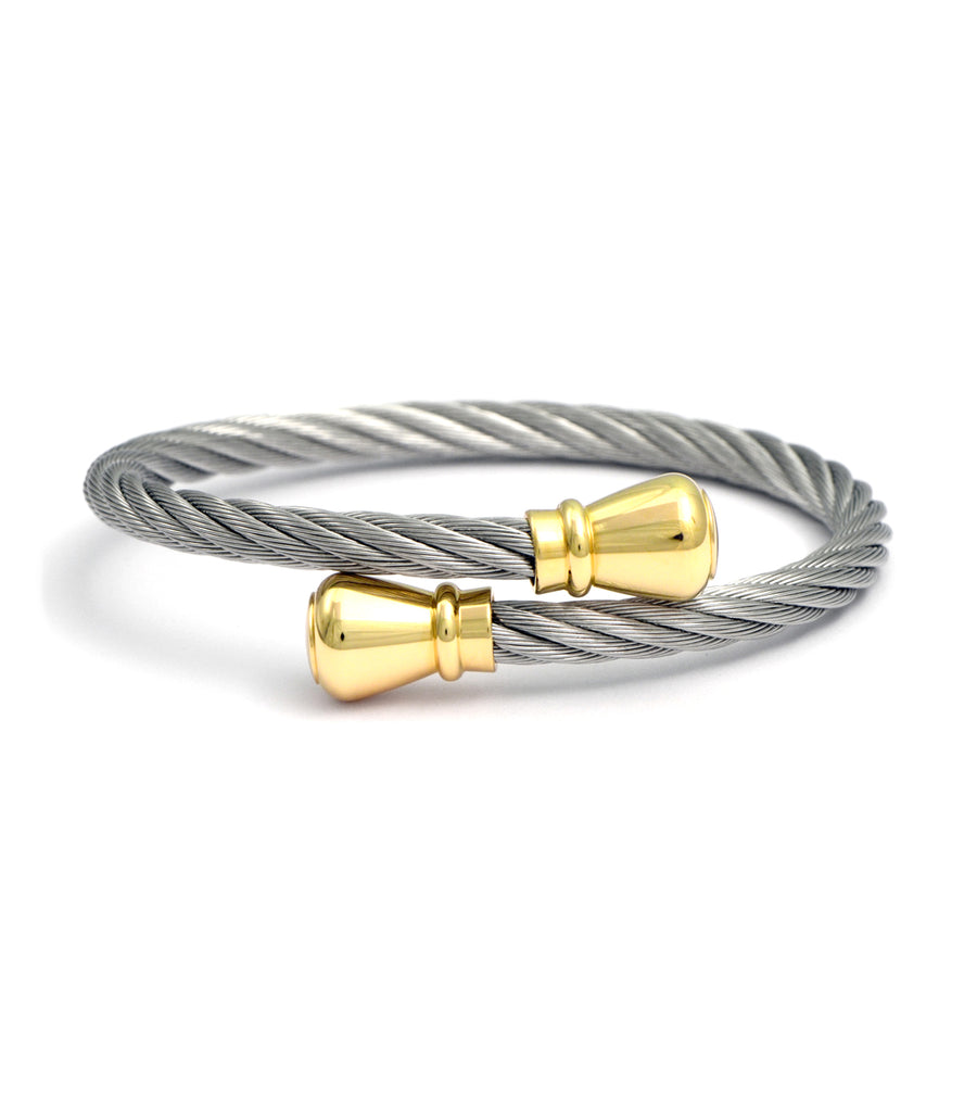 Celtic Bourse Gray with Yellow Gold