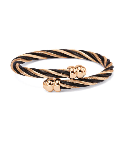 Celtic Bangle Rose Gold and Black