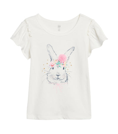 gap kids toddler graphic flutter sleeve t-shirt - ao bunny