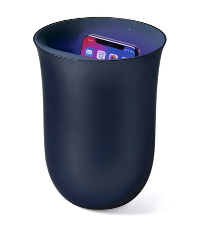 Oblio 10W Wireless Charging Station with UV Sanitizer Dark Blue