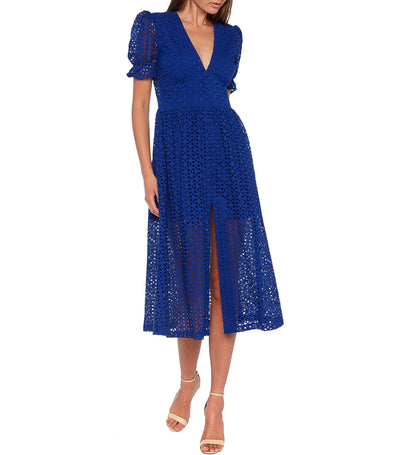 Jordan Lace Dress Cobalt