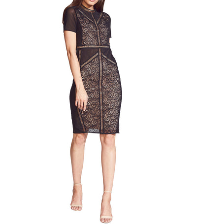 Elsie Lace Dress Black