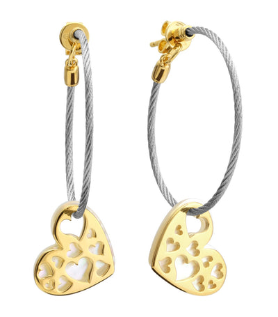 charriol universal love earrings 25mm