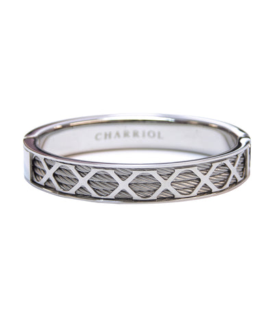 charriol forever bangle -silver