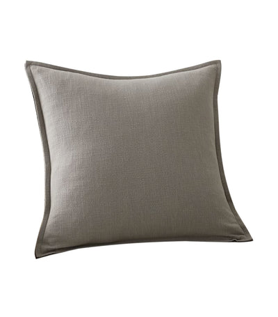 pottery barn organic gray/charcoal cotton casual pillow cover